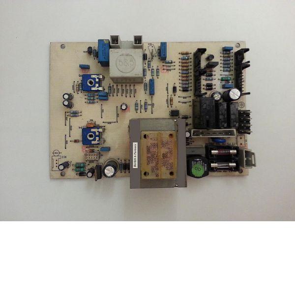 Bertelli & Partners vezérlőpanel Demrad. 0 (Fehér bakelites egyoldalas nyák, csatlakozós, LED-es)